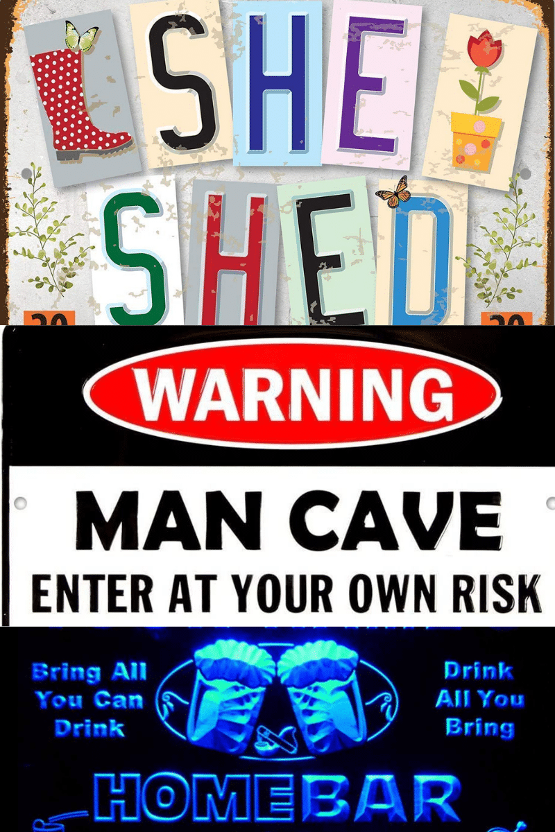 She Shed, Man Cave, Home Bar